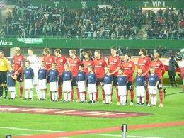 Rapid vs Leverkusen Einlaufkids